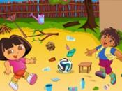لعبة تنظيف حديقة دورا