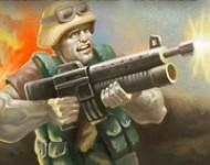 لعبة الحرب بالجنود والمظلات