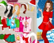 لعبة باربي ملابس الكريسمس