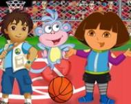 العاب دورا وديجو كرة السلة