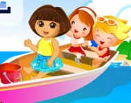 العاب مغامرات دورا فوق القارب