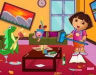 لعبة دورا تنظيف غرفة المعيشة