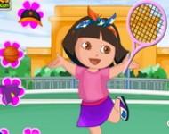 لعبة تلبيس دورا ملابس الرياضة