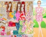 لعبة باربي ملابس الازهار