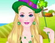 لعبة تلبيس باربي الملابس الخضراء