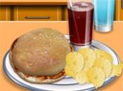 العاب طبخ ساندوتش الدجاج المشوي